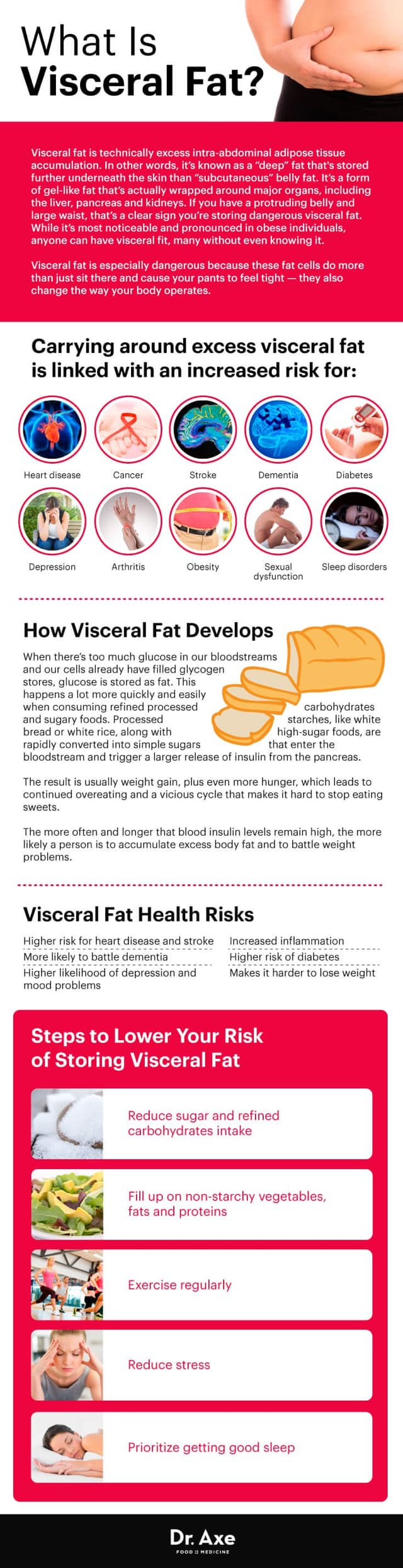 What is Visceral Fat? Infographic