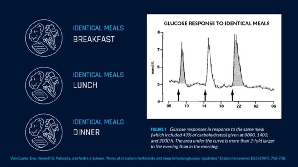 Glucose response to identical meals