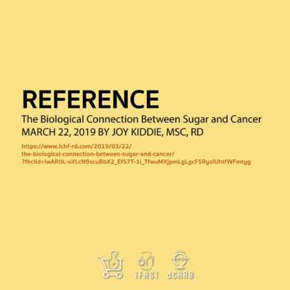 Reference : https://www.lchf-rd.com/2019/03/22/the-biological-connection-between-sugar-and-cancer/?fbclid=IwAR1cDdOiEhSa4HGPXkYnq5aNQjD3Q_Bp-I5Fj8xo0myIfpdJmp70tr-or6Y