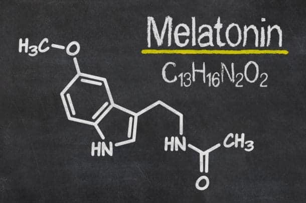 รูปที่ 1 : โครงสร้างทางเคมีของ เมลาโทนิน